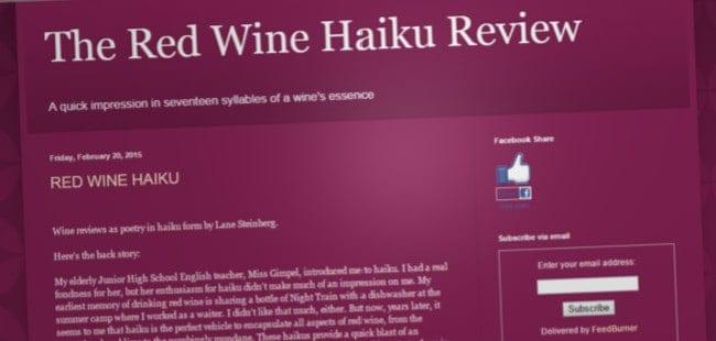 Red Wine Haiku