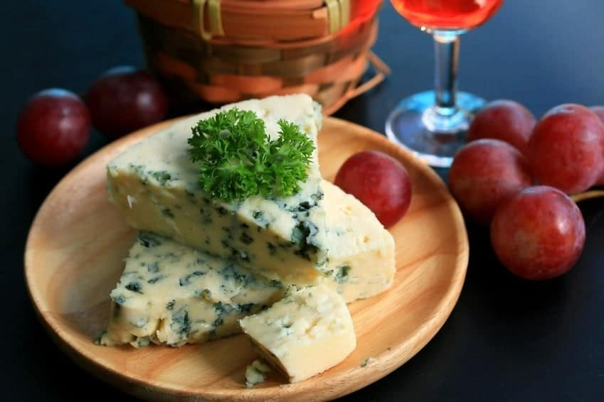 Blue Cheese with Muscadine Wine