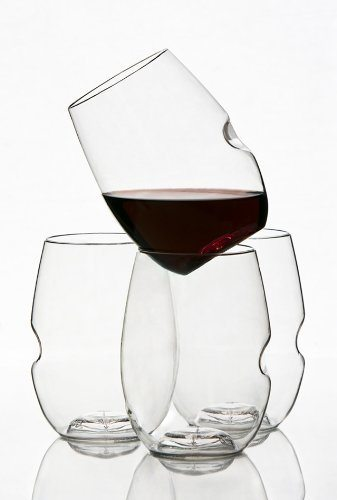 Govino flexible shatterproof unique wine glasses