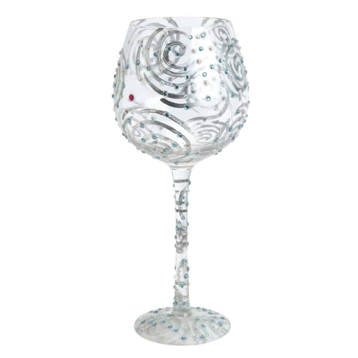 Lolita from enesco wine glass