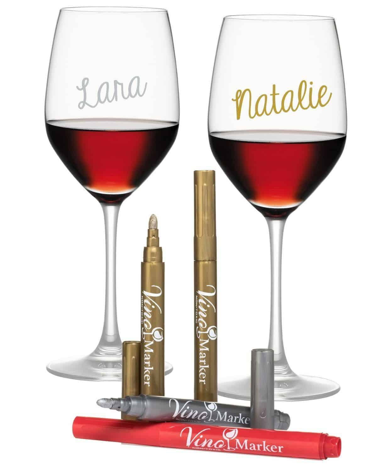 Veno marker metallic wine glasses