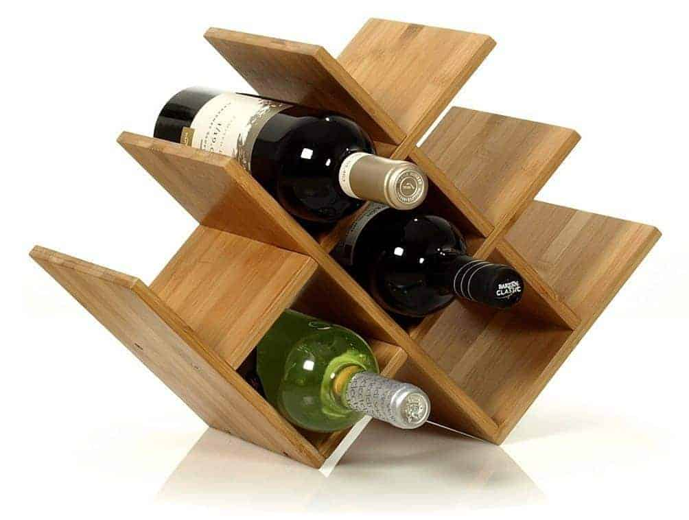 how to make a wine rack in a cabinet