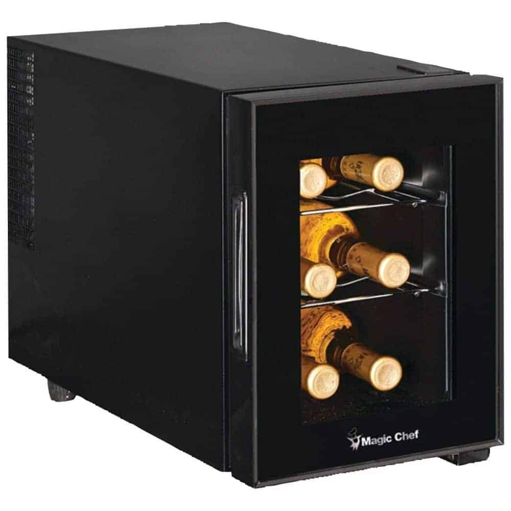 Magic Chef MCWC6B 6-Bottle Wine Cooler