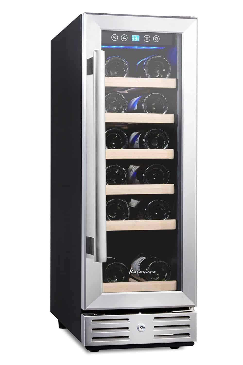 Kalamera Wine Refrigerator 18 Bottle Built-in Or Freestanding