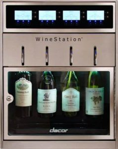 "Dacor DYWS4 Discovery 20"" WineStation 4-Bottle Wine Dispenser"