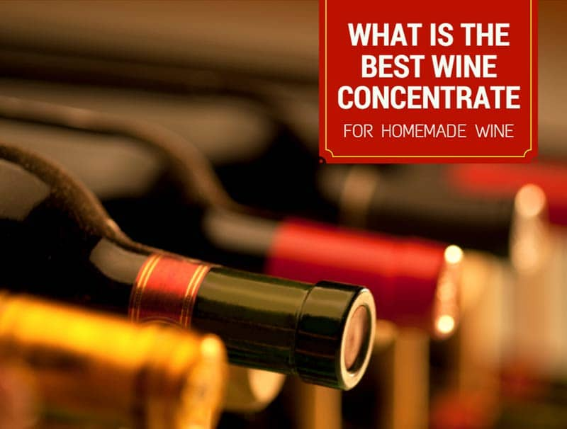 What Is The Best Wine Concentrate For Homemade Wine