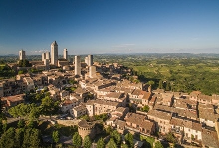 Aerial view of Montepulciano